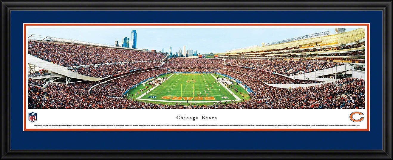 Chicago Bears Panoramic Soldier Field Picture Framed