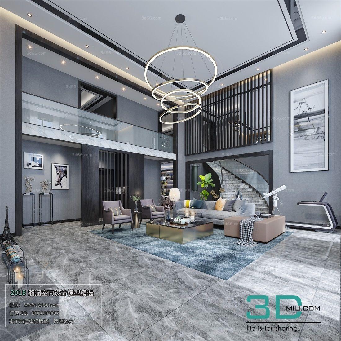 35 Modern Living Room 3dsmax File Free Download 3d