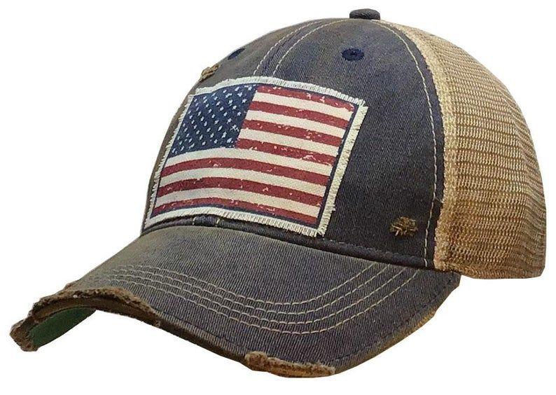 American Flag Usa Vintage Distressed Trucker Cap Men S Etsy In 2020 Vintage Trucker Hats Trucker Cap Trucker Hat