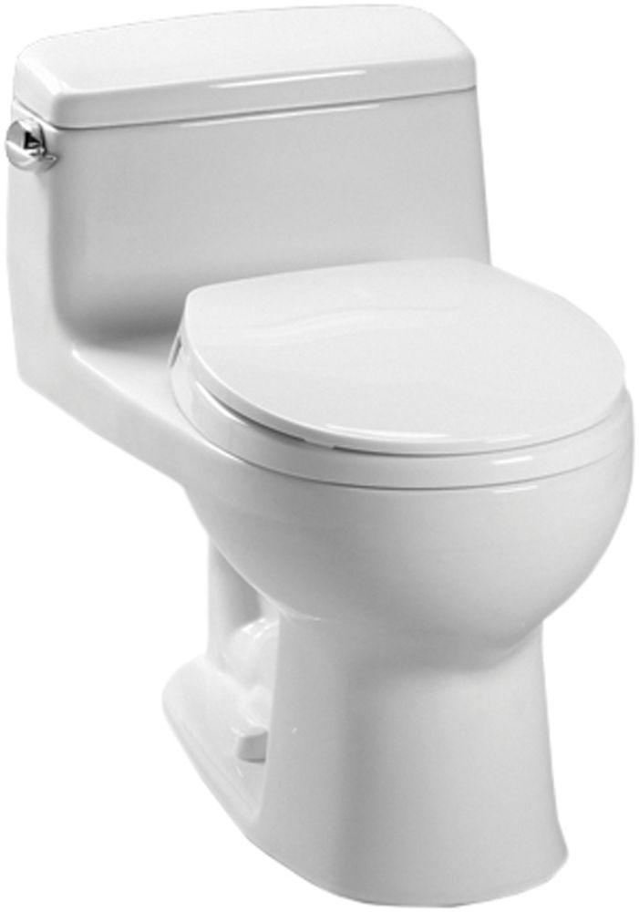 Toto Ms863113e 01 Cotton White Eco Supreme Toilet 1 28 Gpf 332 Shipping Round Front Toilet Toto White