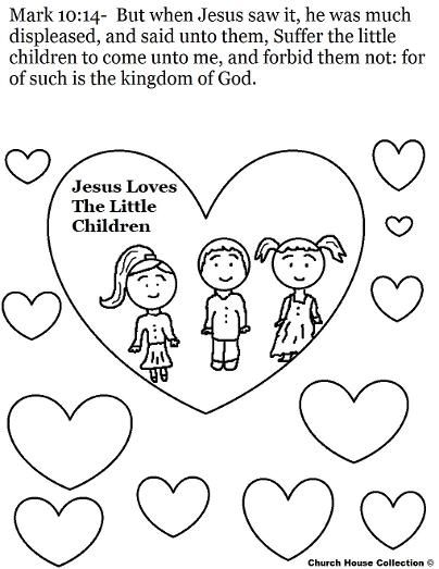 Jesus Loves The Little Children Coloring Page (With images