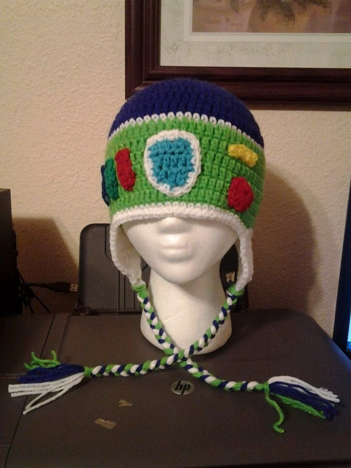 Buzz Lightyear inspired crochet beanie by Liliashairbows on Etsy