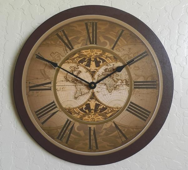 Clocks from around the world home site map checkout track this traditional large old world map wall clock is great for your home or as an office wall clock available in sizes gumiabroncs Image collections