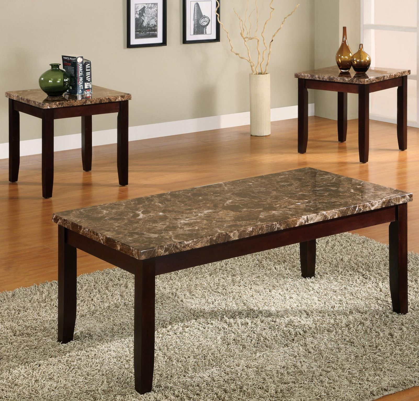 Ferrara 3 Piece Table Set Coffee and 2 End Tables $229 00 C M 7221
