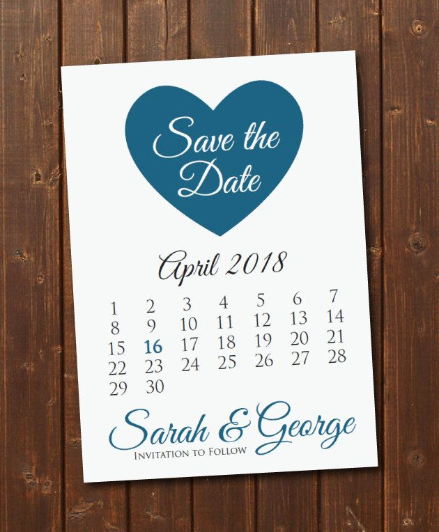 On Sale Printable Save The Date CalendarPostcard Template