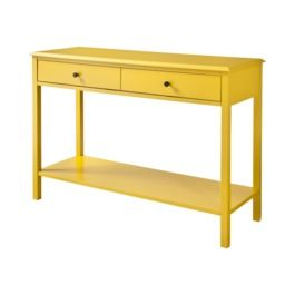 Yellow Furniture Console Table Modern Console Tables Casual Home Decor