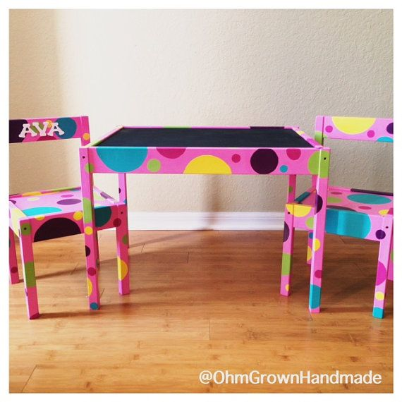Custom Hand Painted Children S Table And Two Chairs By Ohmgrown & Hand Painted Kids Furniture - Furniture Designs