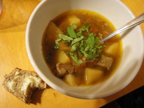 georgian beef & apricot soup