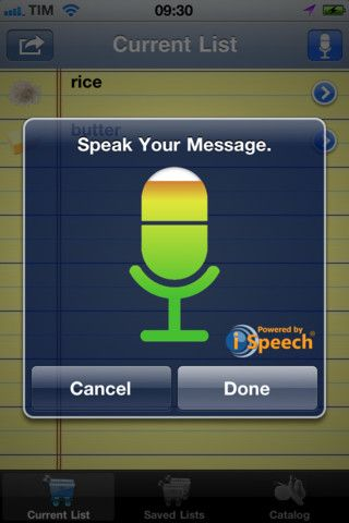 Voice Shopping List app (United States version