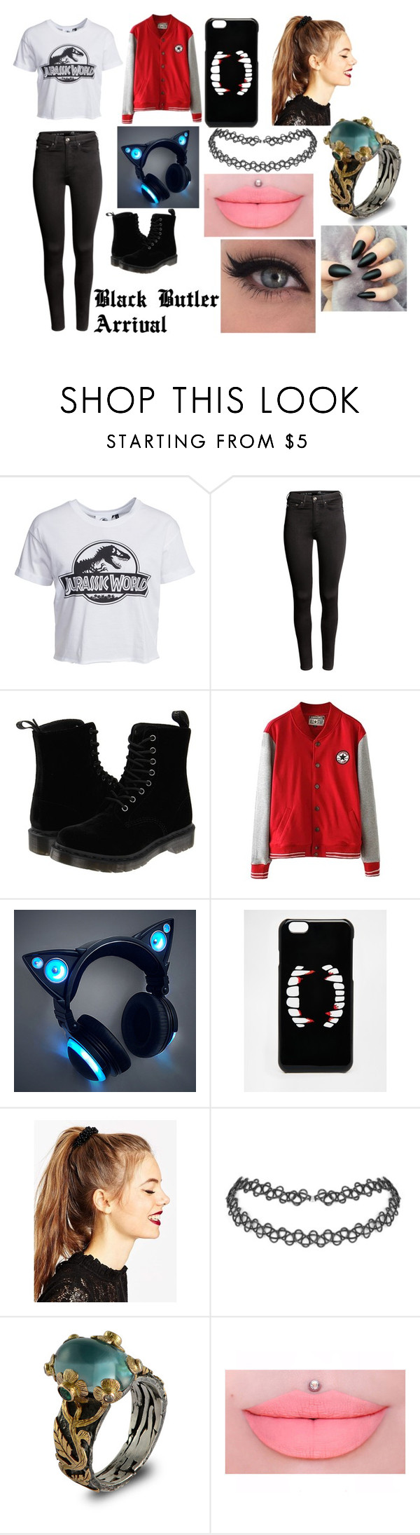 """Untitled #19"" by erementaruartist on Polyvore featuring New Look, H&M, Dr. Martens, ASOS and Emma Chapman"