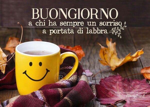 frasi buongiorno sorriso