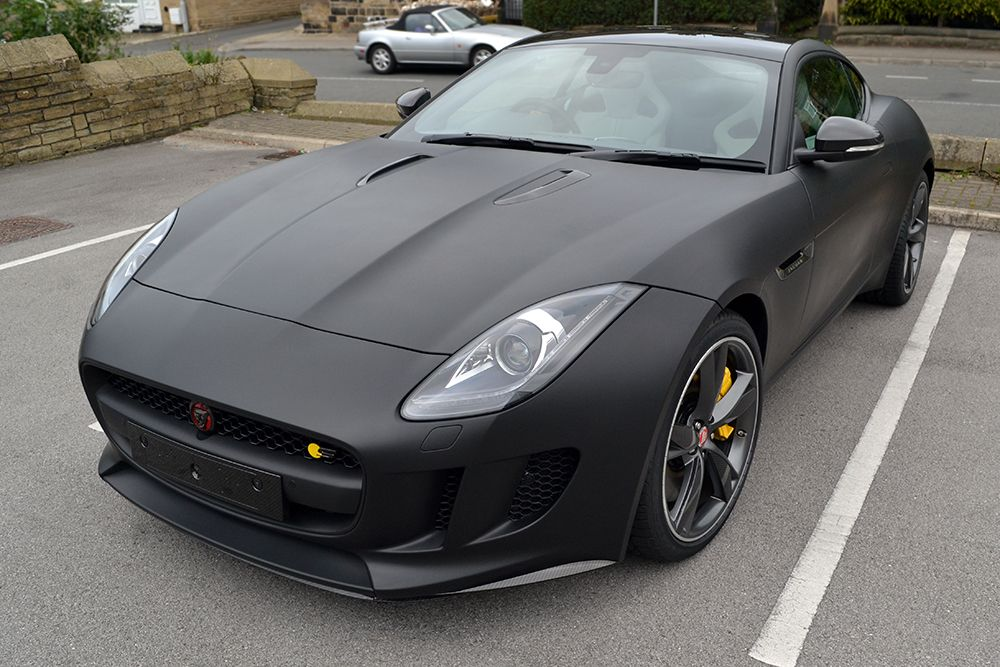 Jaguar F Type Matte Black Angled Outside Jpg 1000 667 Jaguar F Type Matte Black Cars Black Car