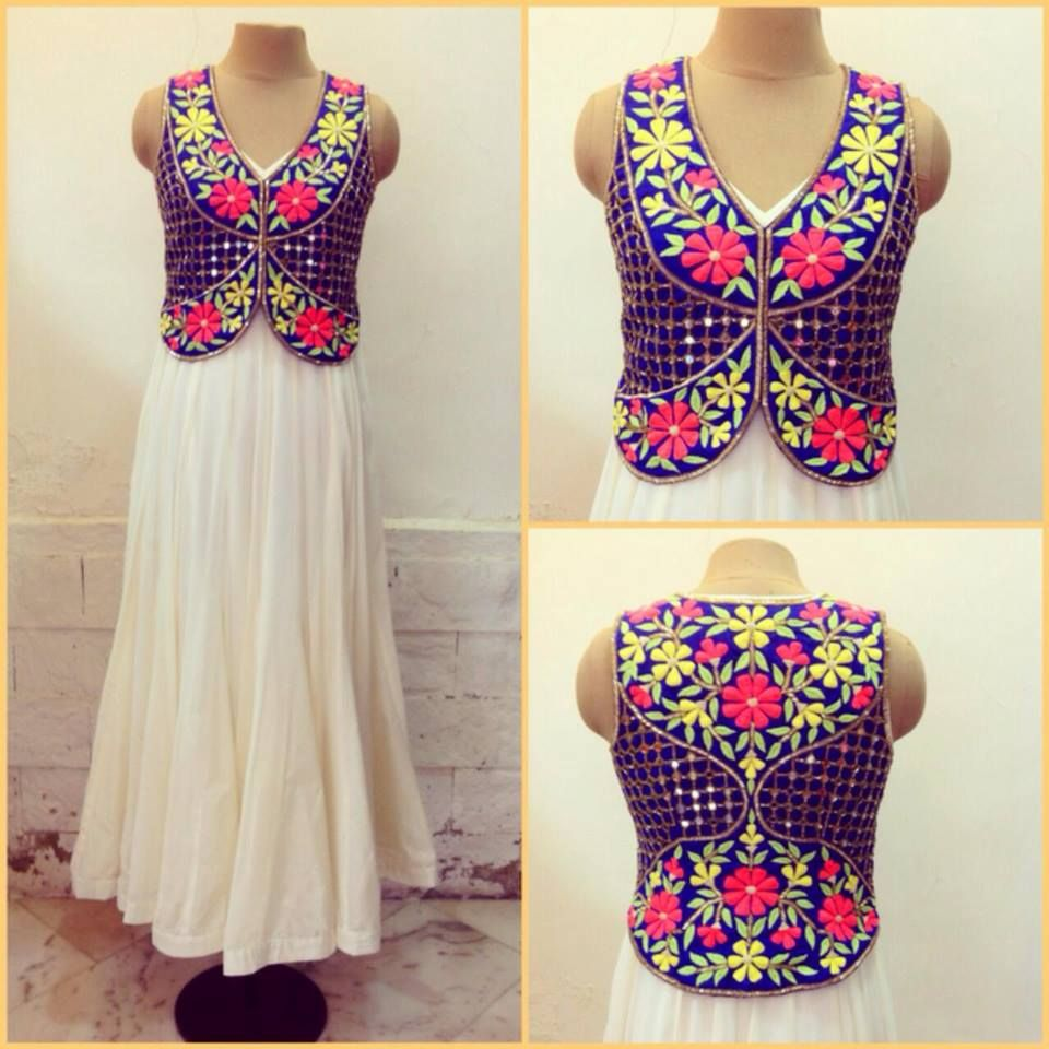 Ethnic Embroidered And Mirror Work Jacket  Adorn