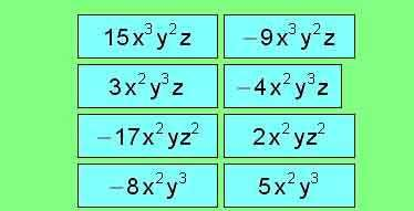 Dos Monomios O Dos Polinomios Son Semejantes O Equivalentes Si Su Valor Numérico Es El Mismo