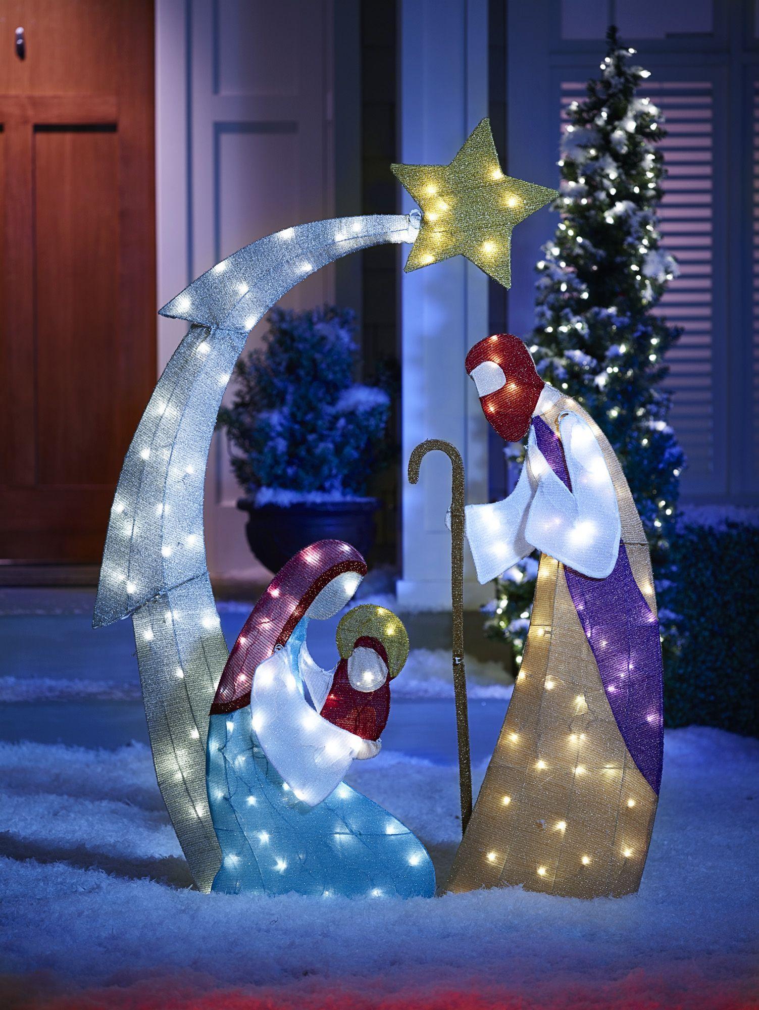 Fingerhut alcove Lighted Nativity Scene Outdoor