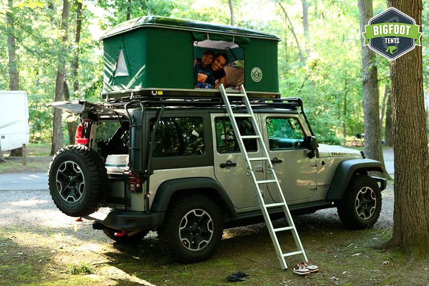 Hard Shell Jeep Roof Top Tent Black Roof Top Tent Jeep Tent Jeep Wrangler Accessories