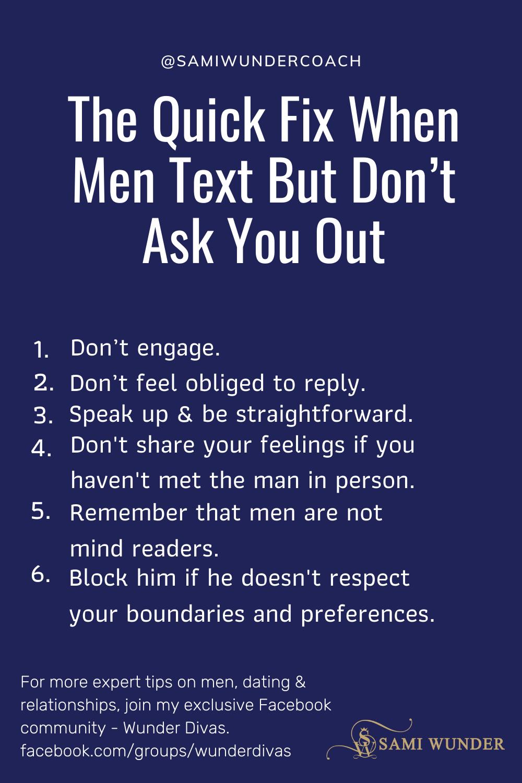 women dating men