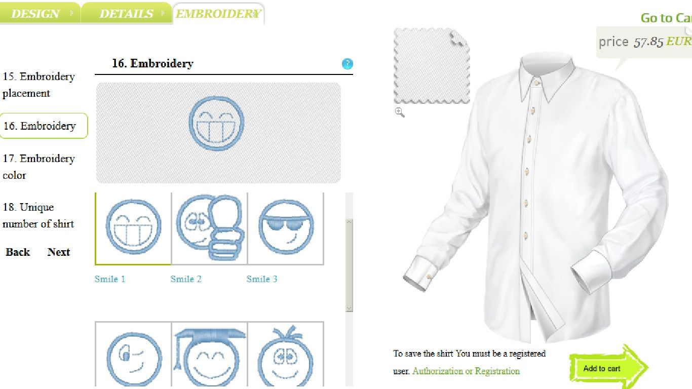 Shirts Embroidery for graduation http://betolli.com/en/mens-shirt/