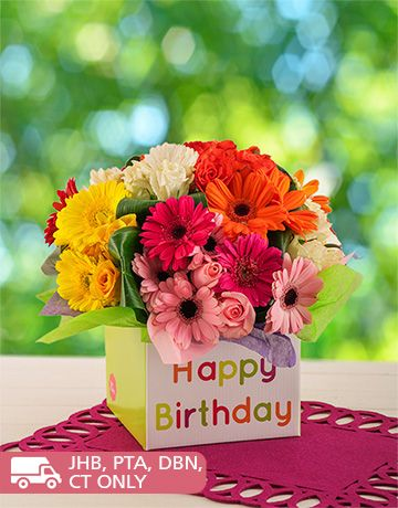 Birthday Gifts And Flowers For Her Balloons Mixed Gerbera Rose