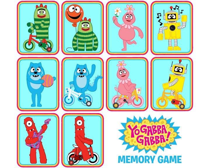 Http Www Gabbafriends Com Images Memory Game Jpg Memory Games Gabba Gabba Yo Gabba Gabba
