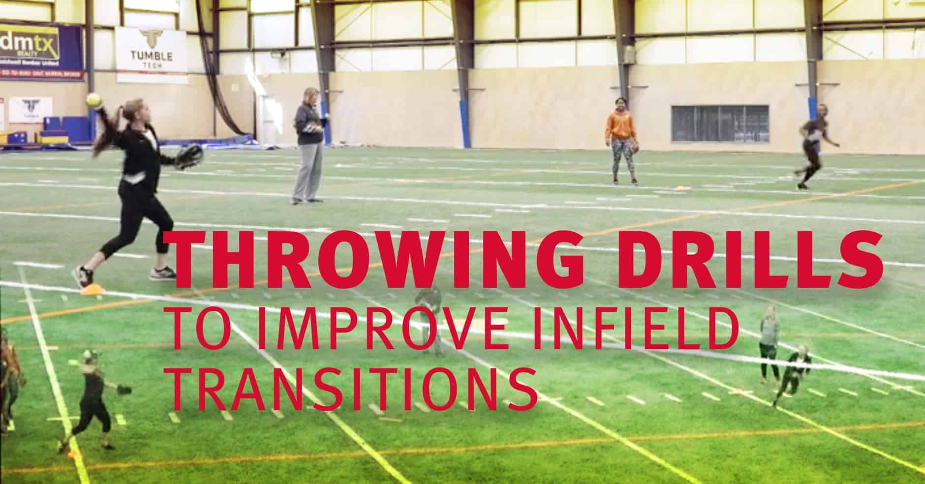 Throwing Drills To Improve Infield Transitions The Art Of Coaching Softball Softball Coach Coaching Drill