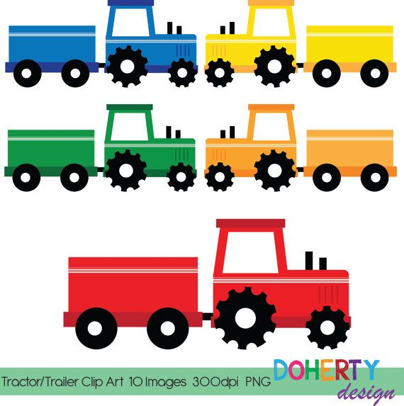 instant download tractor trailer frame clip art scrapbooking rh pinterest com  tractor trailer clipart free download