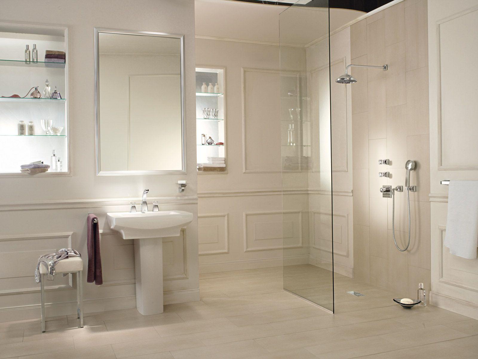 Klassieke badkamer met inloopdouche | Klassieke badkamers | Pinterest