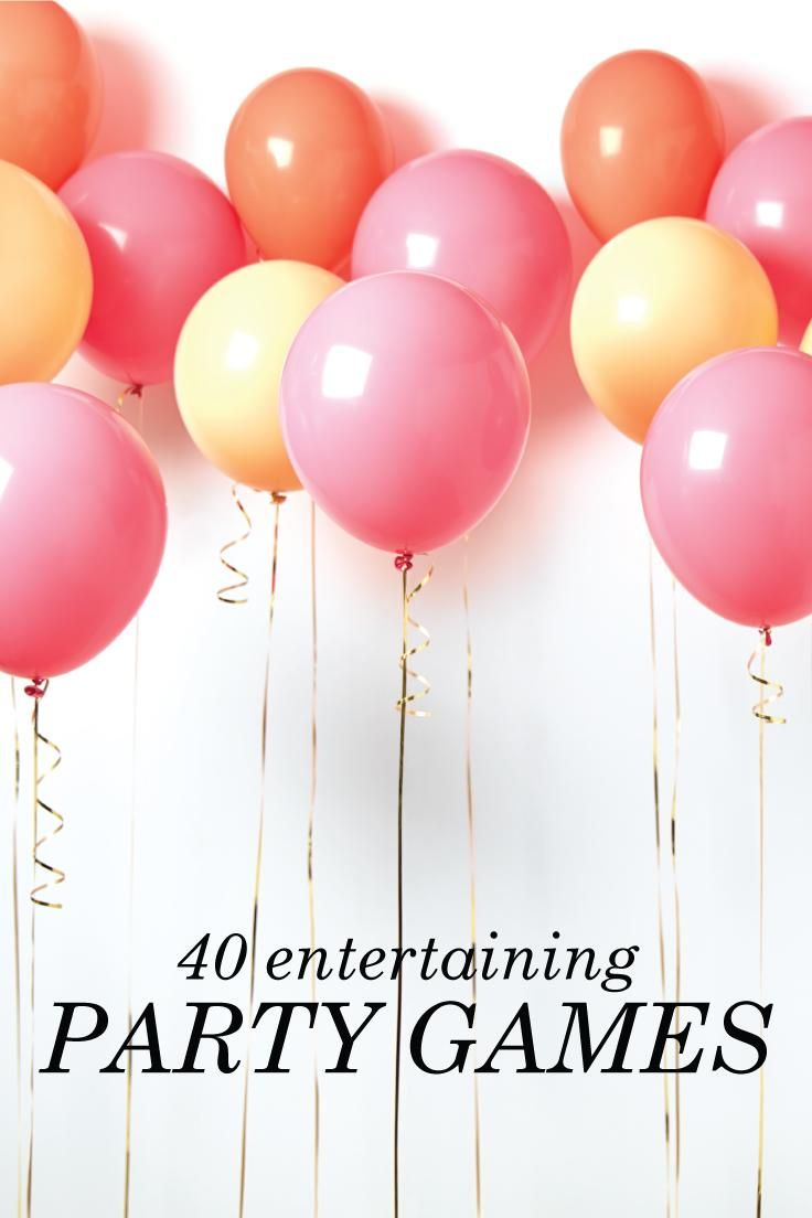 40 Entertaining Party Games | Fun party games, Game ideas and Party ...