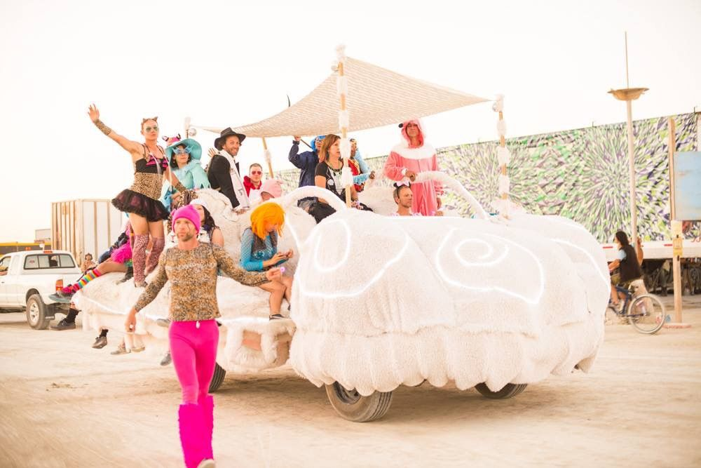 Cloud 9 - Fest300 - Burning Man 2014 Art Car Yearbook
