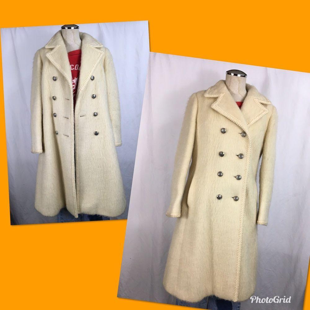 Womens Vintage Lodenfrey Cream Color Wool Long Coat Made In Austria Ebay Long Wool Coat Coat Vintage Coat