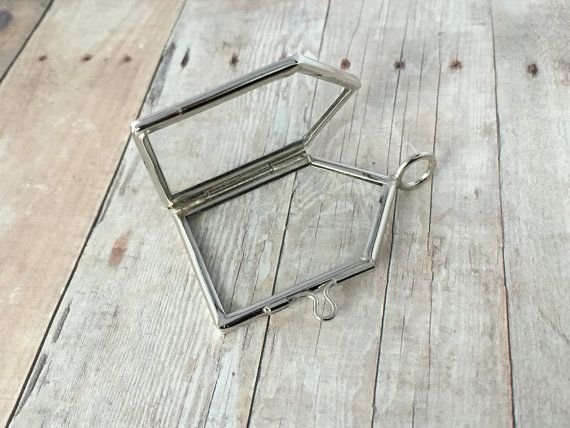 Silver House Double Sided Glass Frame Pendant Memory Hinged Living ...
