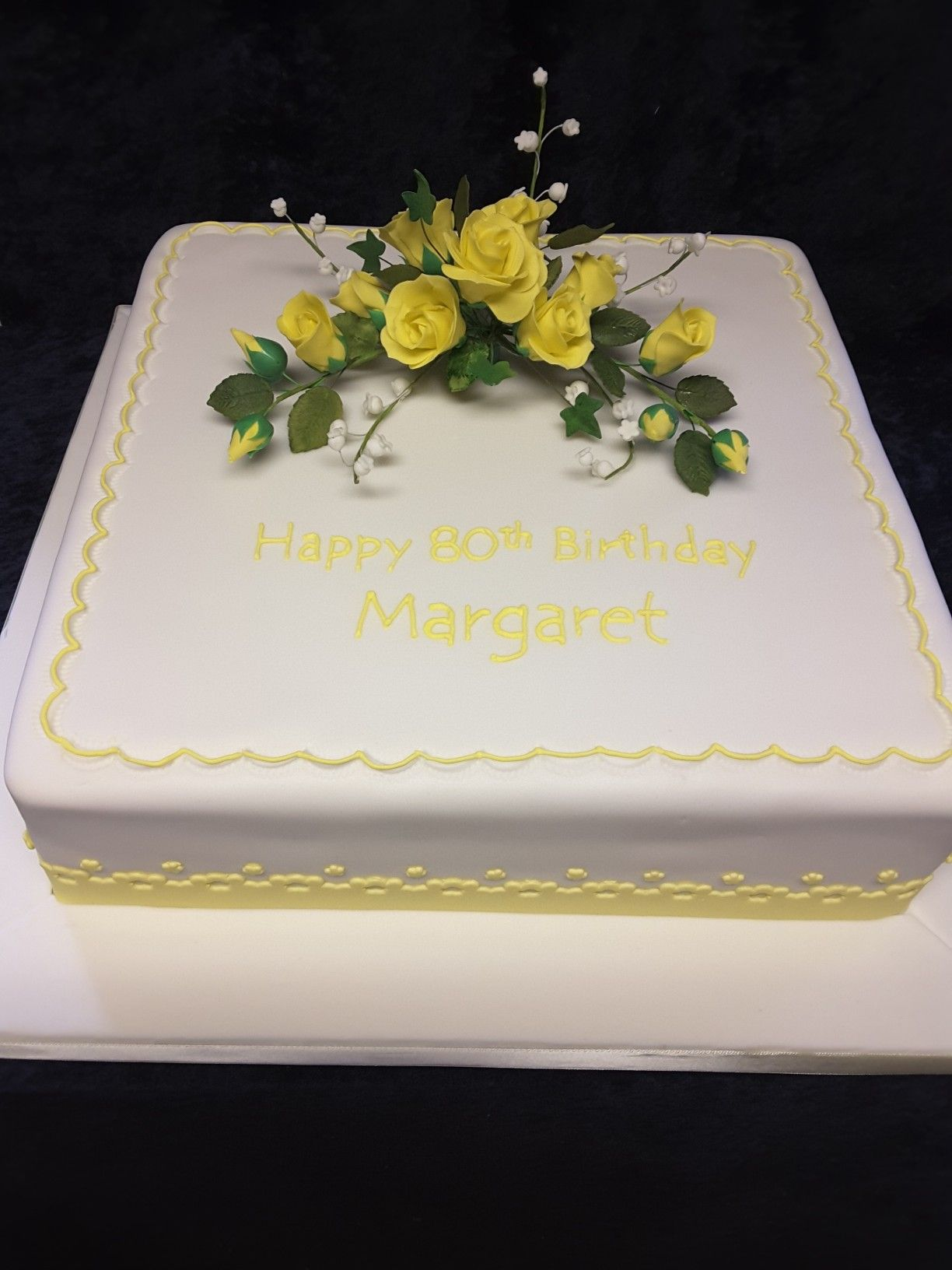 Traditional Birthday Cake With Yellow Sugar Roses Cakes I Have