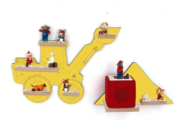 Regal | Radlader mit Kieshaufen | gelb