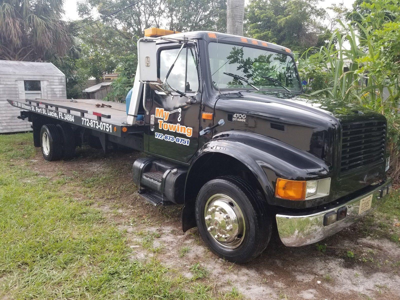 2000 International 4700 Dt456e Flatbed Rollback Tow Truck Ebay Link