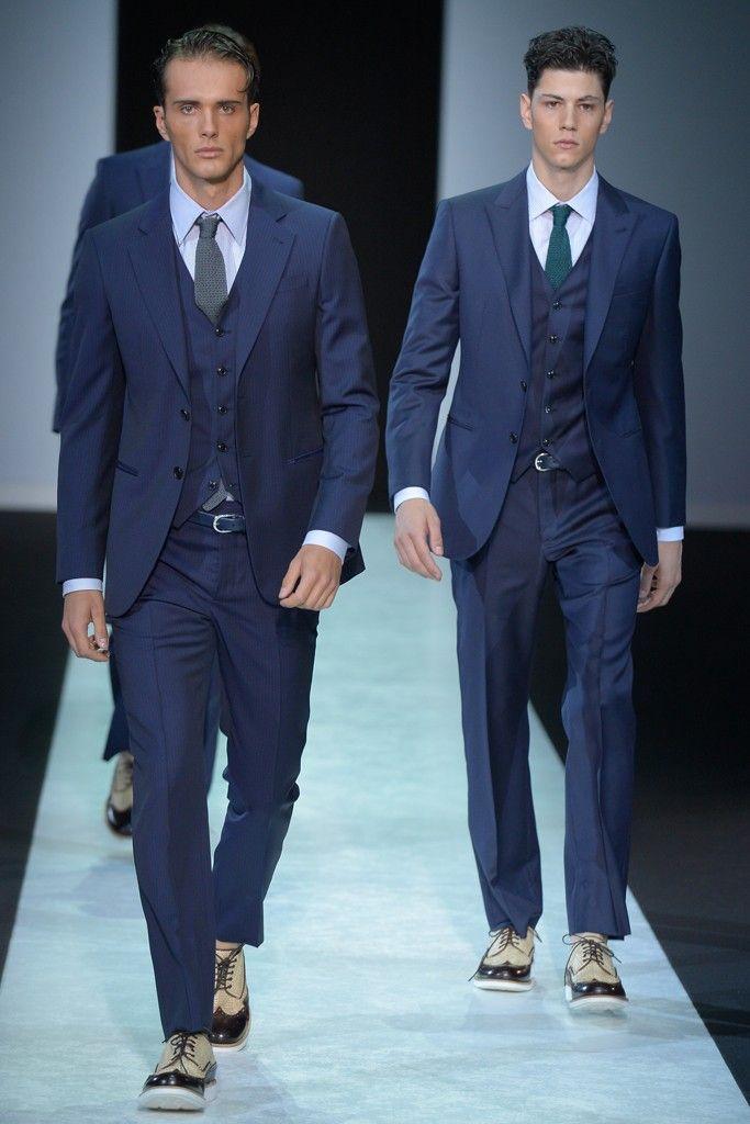 4253ba5495ea Giorgio Armani Men s RTW Spring 2014   Fashion   Costume mariage ...