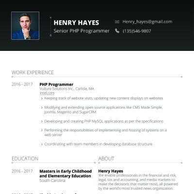 Henry Hayes - Web Developer design Pinterest Web developer