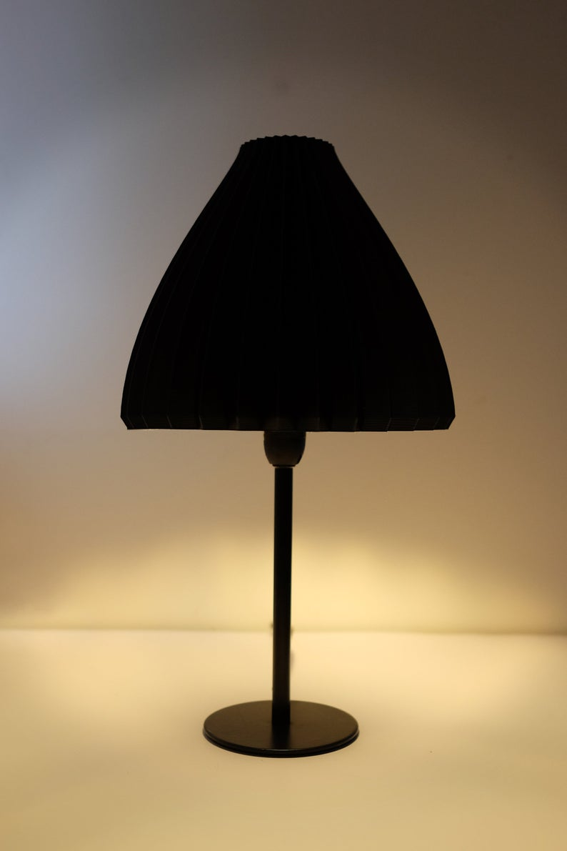 Eco Friendly Lamp Shade Lili Original Noir Silky Black 3d Printed Danish Design That Will Fit Your Existing Sockets I 2020