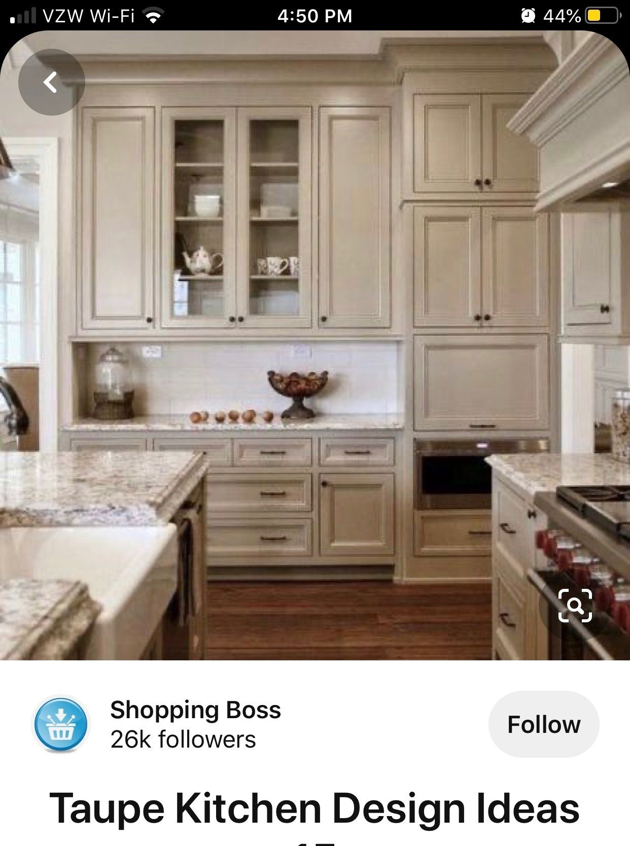 Pin By Patty Stutz On Remodel In 2020 Taupe Kitchen Cabinets Beige Kitchen Kitchen Cabinet Inspiration