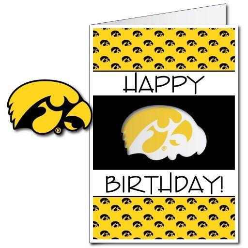 University Of Iowa Hawkeyes 2 X3 Giant Birthday Greeting Card Plus Yard Sign Birthday Greeting Cards Cards Yard Cards