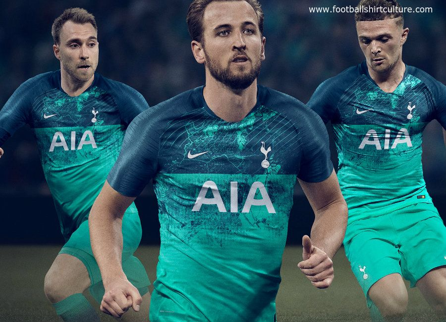 98e6a598f The new Tottenham Hotspur 18 19 third kit by Nike has been revealed. A  design that links details of territorial pride and historic graphics from  the club s ...