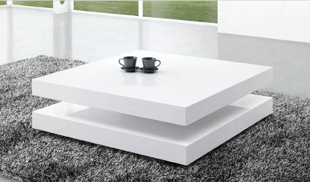 Lage Salontafel Hoogglans Wit.Deze Hoogglans Witte Salontafel Is Ontworpen In Een Stijlvol Design