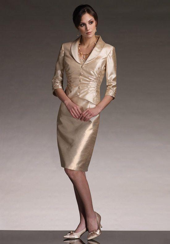 Great Cost efficient Scoop Beading Knee Length With Coat Column Mother Bride Dress u
