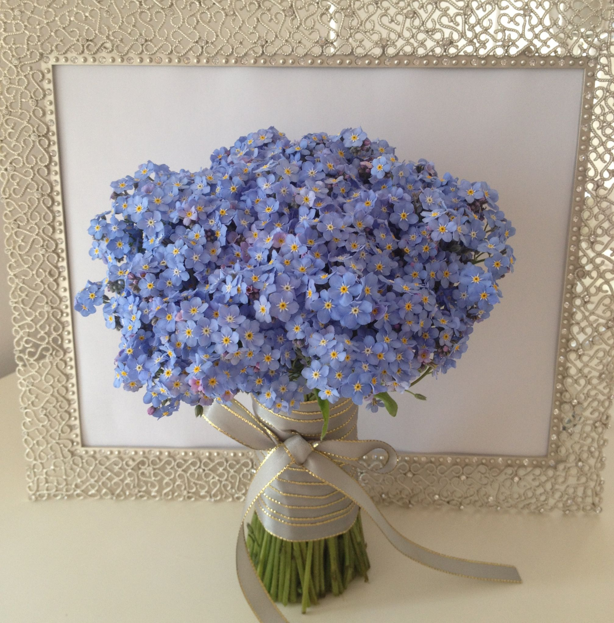 Wedding Bouquets Not Flowers: Forget Me Not Bridal Bouquet This Is The Dream! In 2019