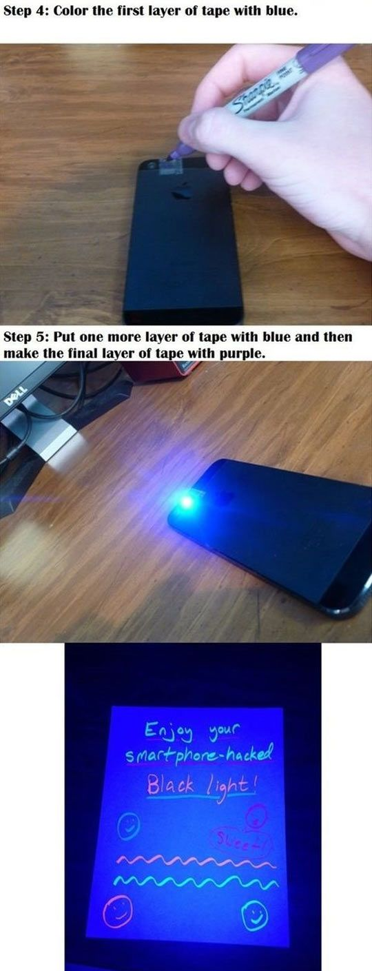 Themetapicture Com Diy Black Light Black Light Phone Hacks Diy