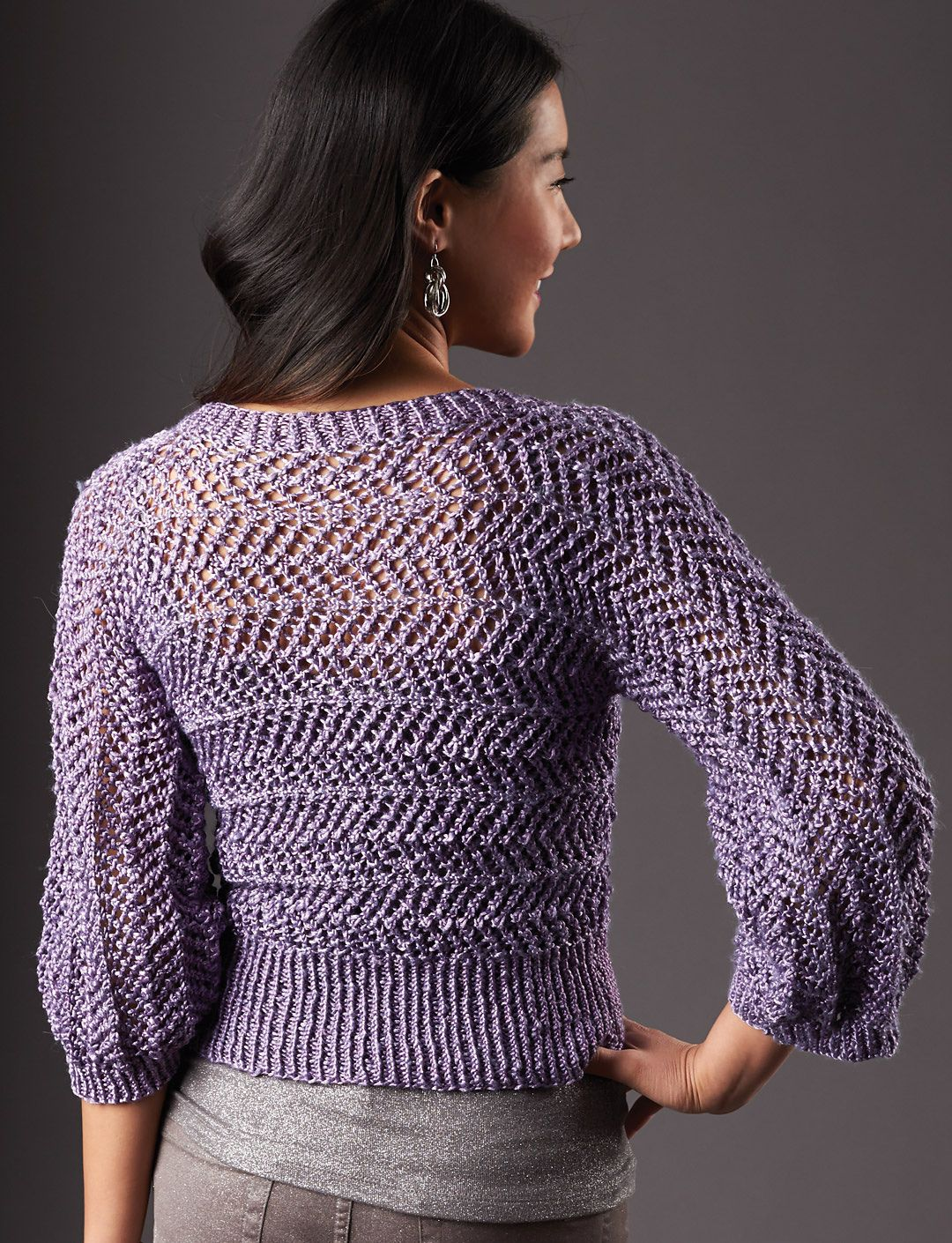 Dazzling Dolman pattern by Patons | free knitting patterns