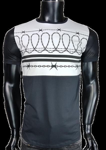 69d74d0e1e T-Shirt męski z siatką - Biały - T-shirty męskie - Awii