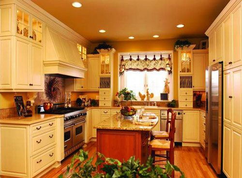 Small french country kitchen ideas google search for Search kitchen designs
