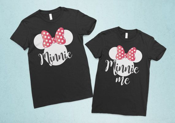 222e556f Minnie and Minnie Me matching mother daughter by Ohana55Apparel ...