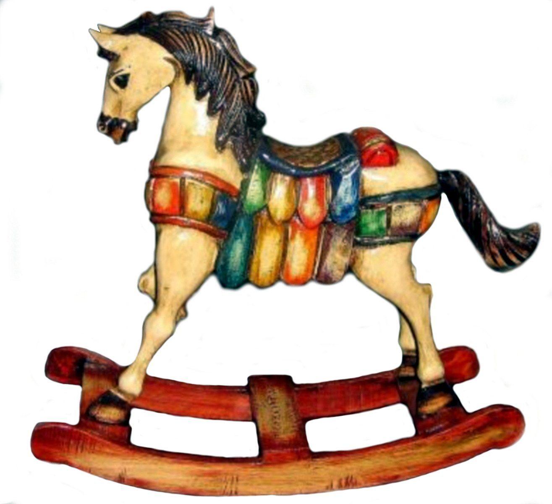 Schaukelpferd Christmas Pferd Weihnachten Deko Shabby: Nostalgie Pur, Nur Zur Dekoration Und Nicht Für Kinder Als