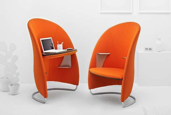 Multifunctional Hully Can Be Mirrored and Flipped for Work Private Nook #design trendhunter.com